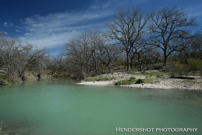 Ranchero Creek as it meets the Sabinal River in winter. The 'River Pasture' offers some great turkey and wild hog hunting. Brushy Hill Ranch provides affordable South Texas bowhunting. If you're looking for great bowhunting at cheap prices, check out Brushy Hill Ranch!