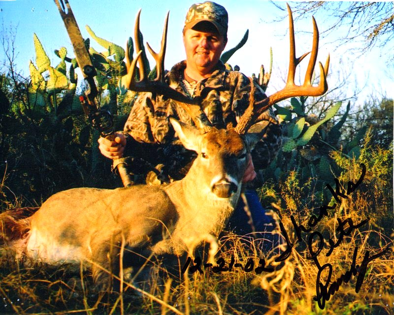 Biggest Deer shot at Brushy Hill Ranch- SO FAR! This deer scored 168 1/8 inch Pope & Young. Brushy Hill Ranch offers the most affordable South Texas Whitetail Deer bow hunting. $140 per day whitetail deer hunting, with NO TROPHY FEES! Turkey, Wild Hog/Boar and predator hunting is included with the price of your whitetail deer hunt!